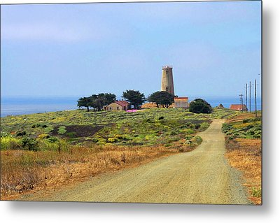 Piedras Blancas Historic Light Station - Outstanding Natural Area Central California Metal Print by Christine Till