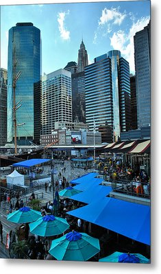 Pier 17 Blue Tops Metal Print