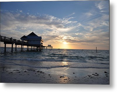 Pier 60 At Clearwater Beach Florida Metal Print by Bill Cannon