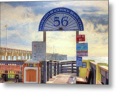 Pier Access 56 Panama City Beach Metal Print