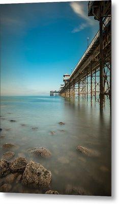 Pier At Llandudno, North Wales Metal Print by Andy Astbury