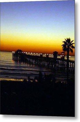 Metal Print featuring the photograph Pier At Sunset by Amanda Eberly-Kudamik