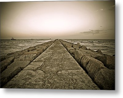 Pier At Sunset Metal Print by Marilyn Hunt