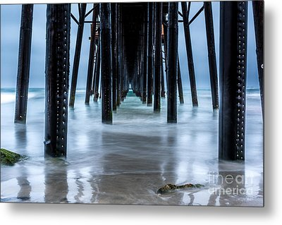 Pier Into The Ocean Metal Print by Leo Bounds
