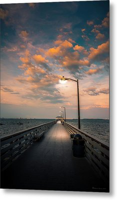 Pier Lights Metal Print by Marvin Spates