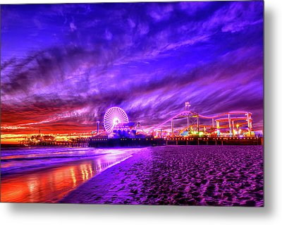 Pier Of Lights Metal Print by Midori Chan