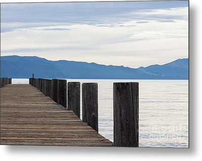 Metal Print featuring the photograph Pier On The Lake by Ana V Ramirez