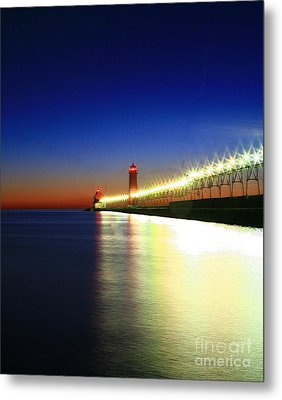 Pier Reflection Metal Print by Robert Pearson