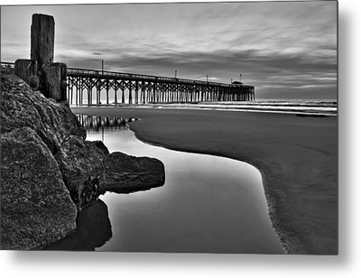 Pier Reflections Metal Print by Ginny Horton