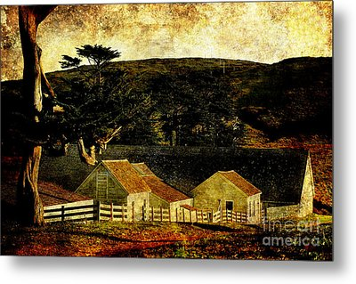 Pierce Point Ranch 18 . Texture Metal Print by Wingsdomain Art and Photography