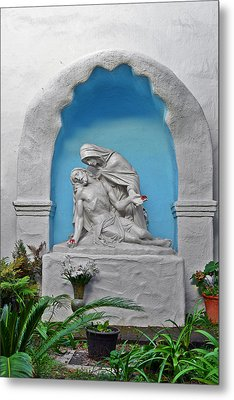 Metal Print featuring the photograph Pieta Garden Mission Diego De Alcala by Christine Till