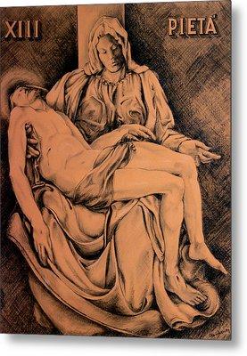 Pieta Study Metal Print by Hanne Lore Koehler