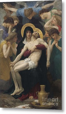 Pieta Metal Print by William-Adolphe Bouguereau
