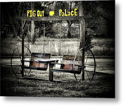 Pig Out Palace Metal Print by Karen M Scovill