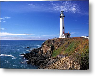 Pigeon Point Lighthouse 2 Metal Print by Kathy Yates
