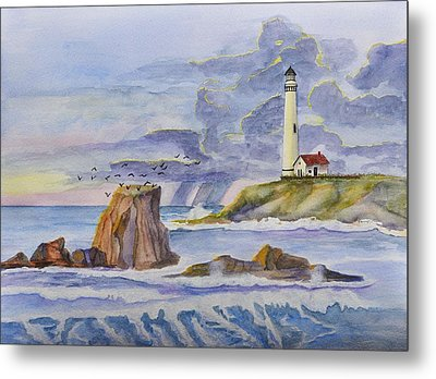 Pigeon Point Lighthouse Metal Print by Linda Brody