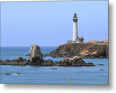 Pigeon Point Lighthouse Metal Print by Lou Ford
