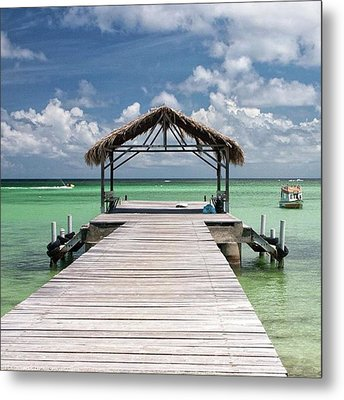 Pigeon Point, Tobago#pigeonpoint Metal Print by John Edwards