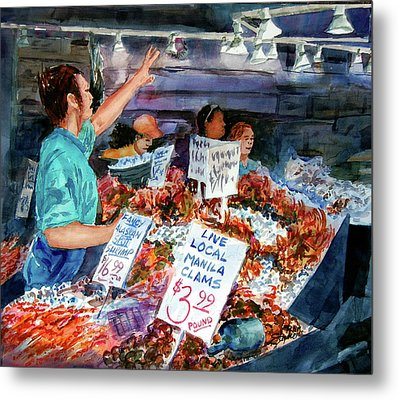 Pike Place Market Metal Print