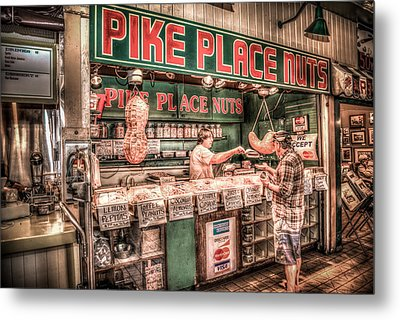 Pike Place Nuts Metal Print
