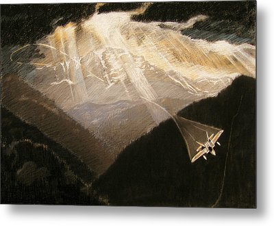 Pikes Peak Flight Metal Print by Nils Bifano