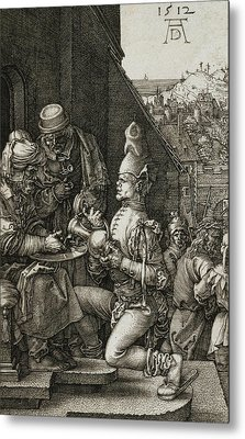 Pilate Washing His Hands Metal Print