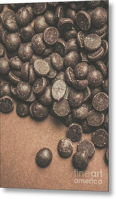 Pile Of Chocolate Chip Chunks Metal Print by Jorgo Photography - Wall Art Gallery