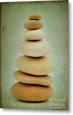 Pile Of Stones Metal Print by Bernard Jaubert