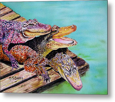 Pile Up Metal Print by Maria Barry