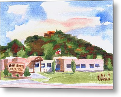 Metal Print featuring the painting Pilot Knob Mountain W401  by Kip DeVore