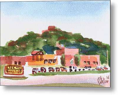Metal Print featuring the painting Pilot Knob Mountain W402 by Kip DeVore