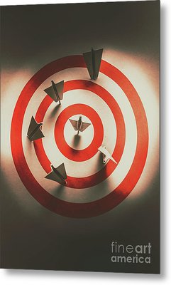 Pin Point Your Target Audience Metal Print