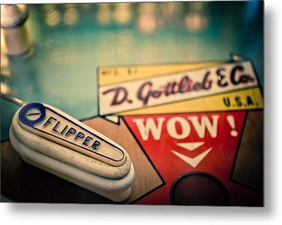 Pinball - Wow Metal Print by Colleen Kammerer