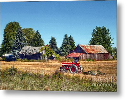 Pinconning Farm Metal Print by Jeff Holbrook