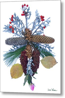 Pine Cone Bouquet Metal Print by Lise Winne