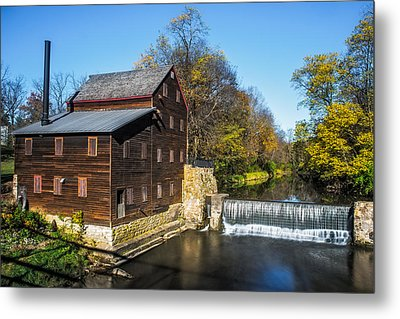 Pine Creek Grist Mill Metal Print by Paul Freidlund