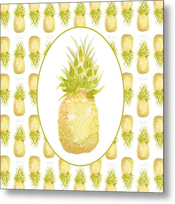 Metal Print featuring the painting Pineapple Cameo by Cindy Garber Iverson