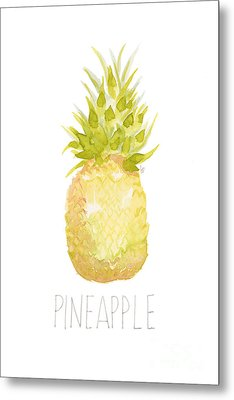 Metal Print featuring the painting Pineapple by Cindy Garber Iverson