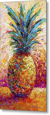 Pineapple Expression Metal Print by Marion Rose