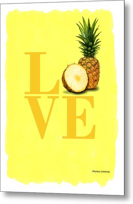 Pineapple Metal Print by Mark Rogan