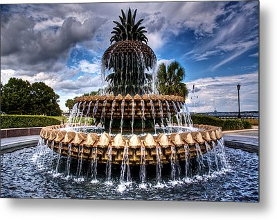 Pineapple Storm Metal Print by Drew Castelhano
