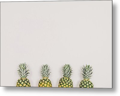 Pineapples Metal Print by Happy Home Artistry