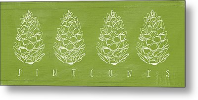 Pinecones-art By Linda Woods Metal Print by Linda Woods