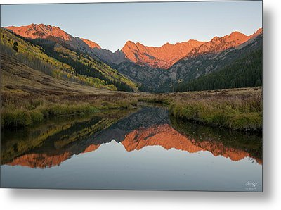 Metal Print featuring the photograph Piney River Autumn Sunrise by Aaron Spong
