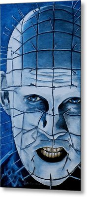 Metal Print featuring the painting Pinhead Up Close And Personal  by Al  Molina