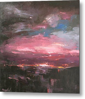 Metal Print featuring the painting Pink by Anastasija Kraineva