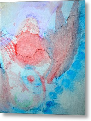 Pink And Blue Metal Print by Paula Deutz