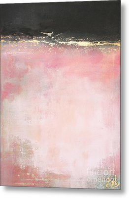 Pink And Gold - Again Metal Print by Anahi DeCanio