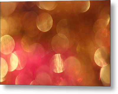 Pink And Gold Shimmer- Abstract Photography Metal Print