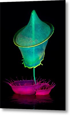 Pink And Green Composition Metal Print by Jaroslaw Blaminsky